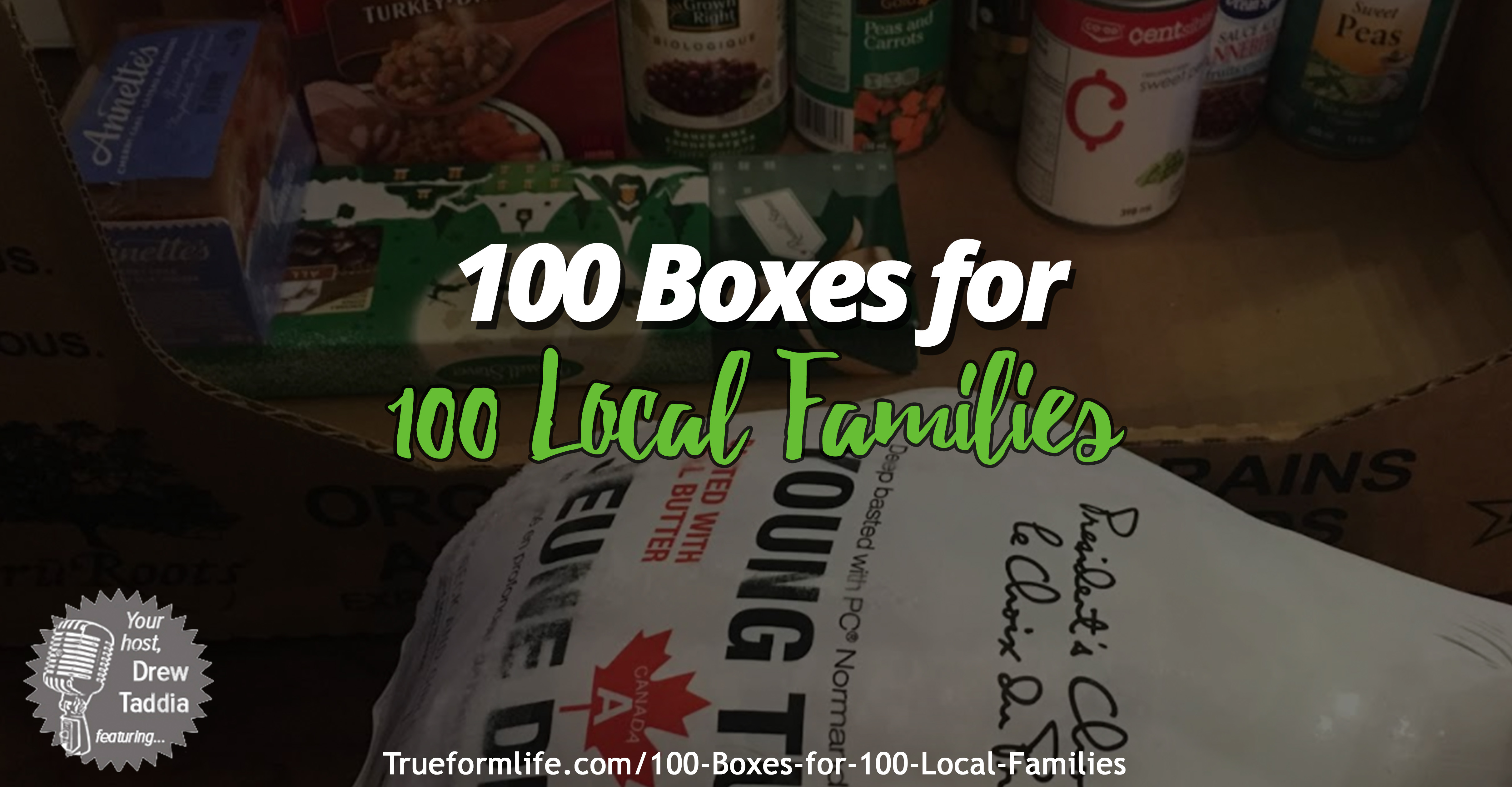100 boxes for 100 local families