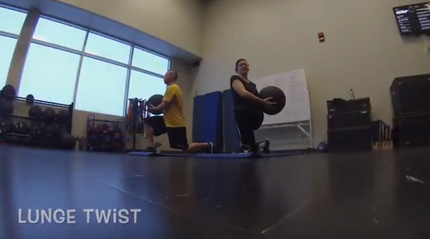 lunge twist medicine ball exercises