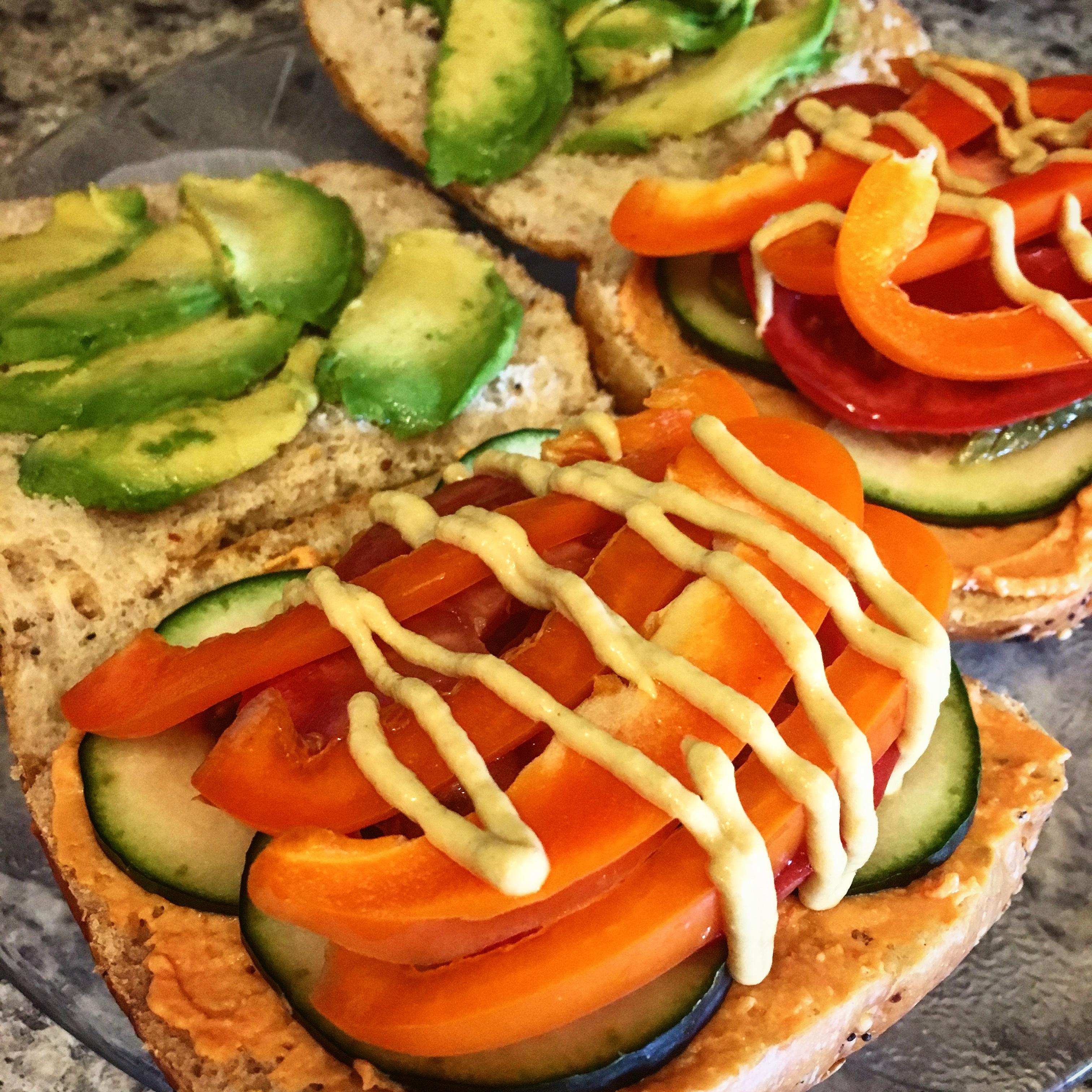 True Form Monster Veggie Sandwich