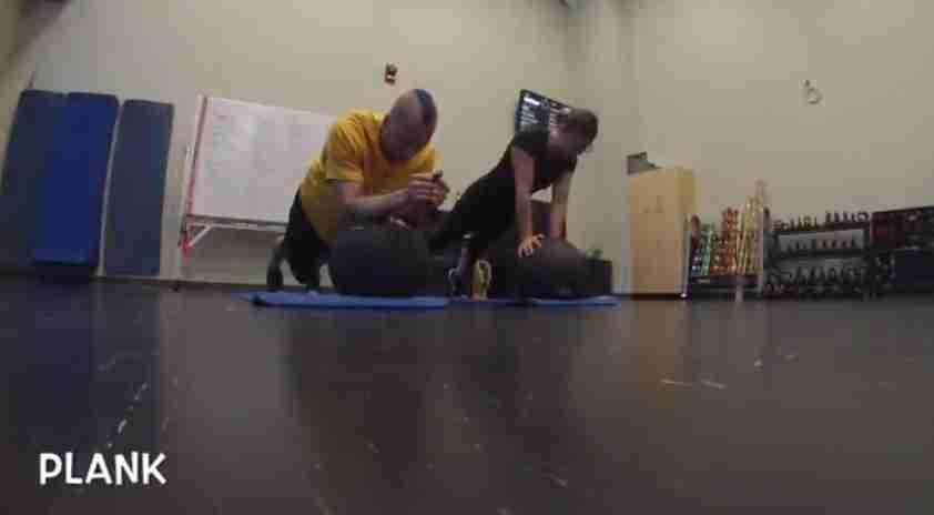 Plank Medicine ball exercise