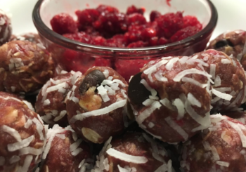 Raspberry Chocolate Protein Balls
