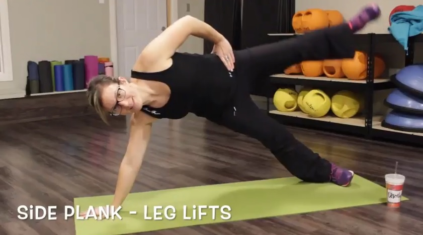 Side Plank Leg Lifts 15-Minute Full Body Burn Workout