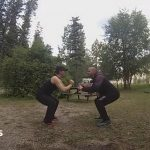 squats exercise while camping