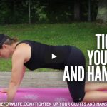 tighten up your glutes and hamstrings